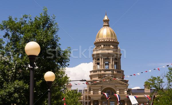 Wyoming ciudad centro de la ciudad edificio arquitectónico lugar Foto stock © cboswell