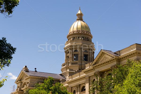 Cheyenne Wyoming Capital City Downtown Capitol Building Legislat Stock photo © cboswell