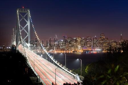 橋 サンフランシスコ 夜明け 水 道路 市 ストックフォト © cboswell
