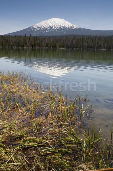 色 湖 学士 オレゴン州 カスケード ストックフォト © cboswell