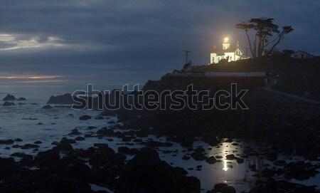 полумесяц город побережье батареи точки Маяк Сток-фото © cboswell