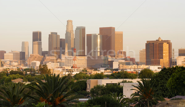 City of Los Angeles Horizontal Downtown Buildings Architecture C Stock photo © cboswell