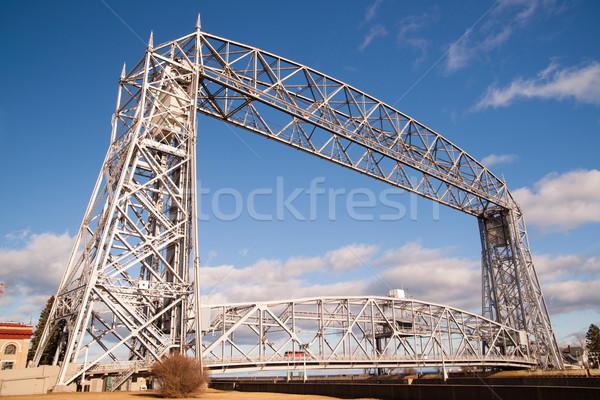 Aerial Lift Bridge Duluth Harbor Lake Superior Minnesota Wiscons Stock photo © cboswell