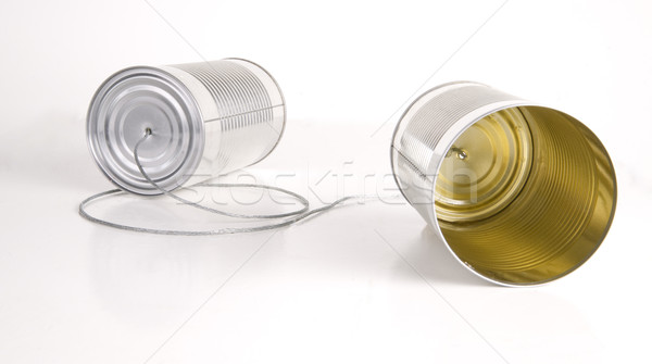Two Cans Communication Primitive System Stock photo © cboswell