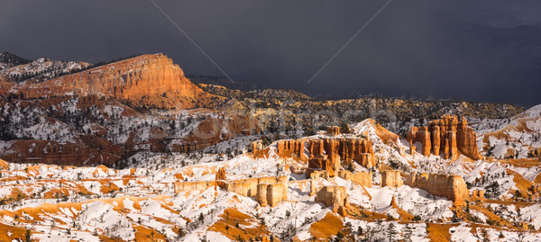 Stormy Skies Threaten Bryce Canyon Rock Formations Utah USA Stock photo © cboswell