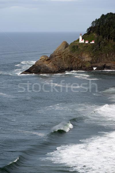 Hoofd Oregon kust vuurtoren baken Stockfoto © cboswell