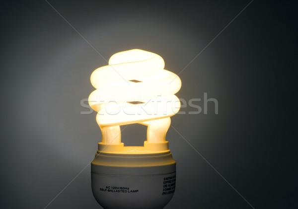 Meleg szín alacsony fluoreszkáló villanykörte fény Stock fotó © cboswell