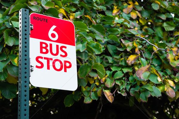 автобусная остановка маршрут общественного транзит центра город Сток-фото © cboswell