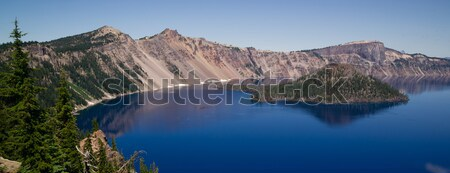 Crater Lake Wizard Island West Rim Caldera Volcano Cone Stock photo © cboswell