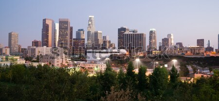 Wygaśnięcia Los Angeles California centrum budynków Zdjęcia stock © cboswell