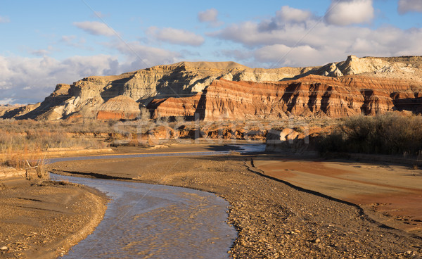 Grand Staircase-Escalante Southern Utah Rolling Clouds Pahreah R Stock photo © cboswell
