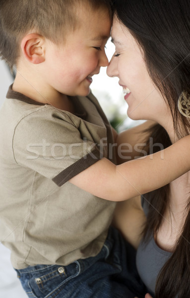 Mother and Son Bond Celebrating Close Ties Love Family Stock photo © cboswell