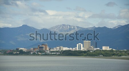 Office Buildings City Skyline Downtown Anchorage Alaska United S Stock photo © cboswell