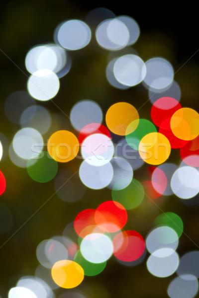 ストックフォト: クリスマス · ライト · 水平な · 色 · 虹