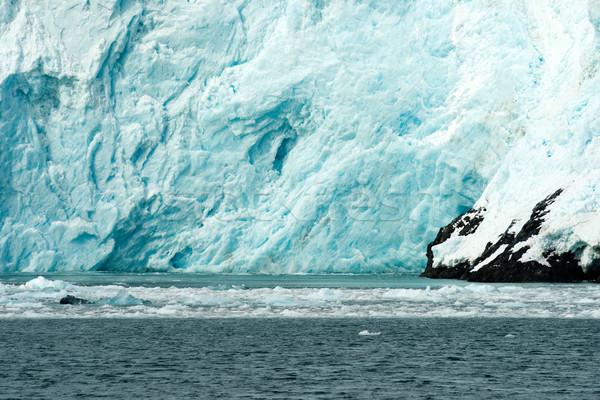 Geleira gelo oceano Alasca costa Foto stock © cboswell