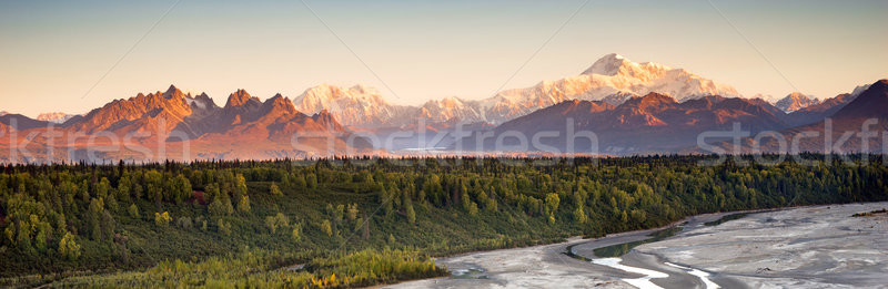 Denali Range Mt McKinley Alaska North America Stock photo © cboswell