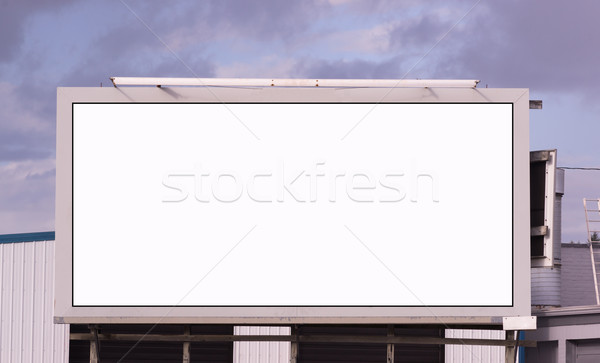 Your Message Here Blank City Billboard Advertising Space Stock photo © cboswell