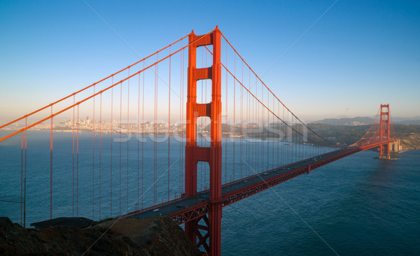 Sunset San Francisco Golden Gate Bridge Pacific Ocean West Coast Stock photo © cboswell