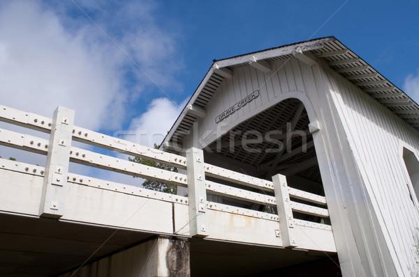 Grave Creek Covered Bridge Stock photo © cboswell