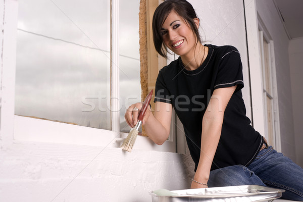 Woman Painting Stock photo © cboswell