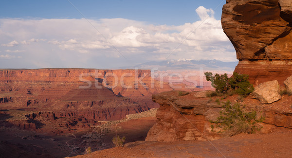 Majestic Vista View Geology Features Rock Formations Canyonlands Stock photo © cboswell