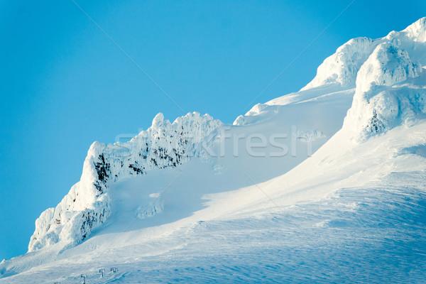 Sunset Mount Hood Cascade Range Ski Resort Area Stock photo © cboswell