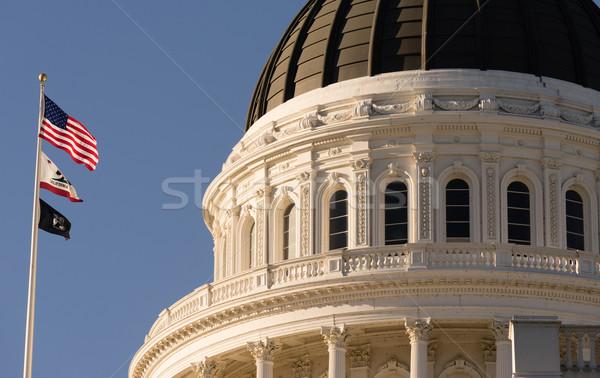 центра Калифорния купол здании город флагами Сток-фото © cboswell