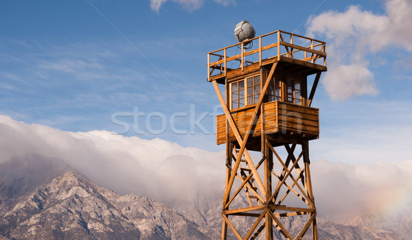 Stock photo: Guard Tower Searchlight Manzanar National Historic Site Californ