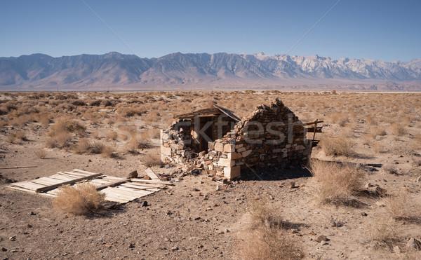 Piedra edificio ruinas desierto piso valle Foto stock © cboswell