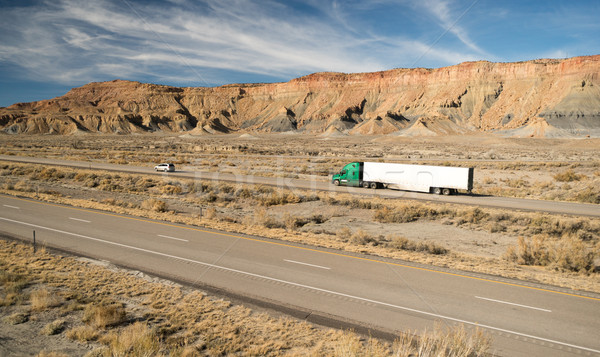 Over The Road Long Haul 18 Wheeler Big Rig Truck Stock photo © cboswell