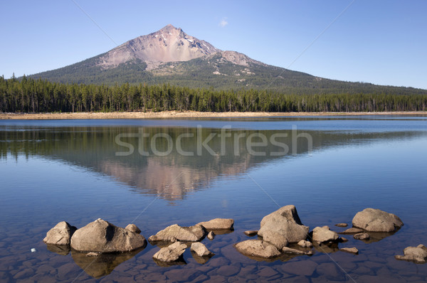 Four Mile Lake Mount McLoughlin Klamath County Oregon Cascade Mo Stock photo © cboswell