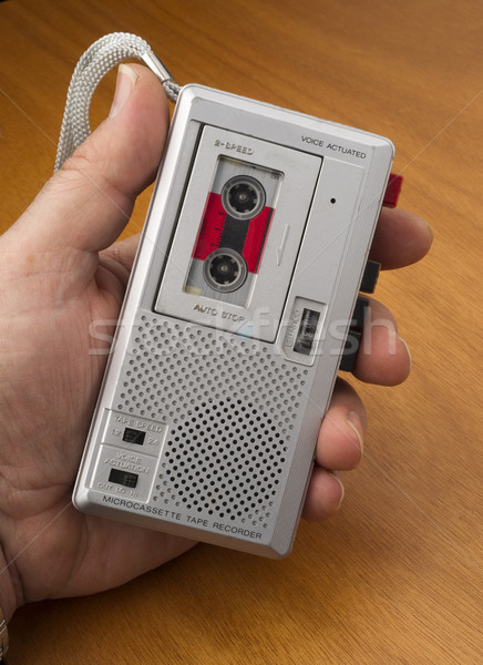 Audio Recorder using Tape the Old Fashioned Way Stock photo © cboswell