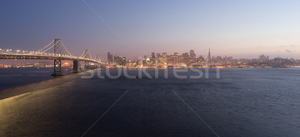 Bay Bridge Crossing San Francisco Skyline Pacific West Coast Stock photo © cboswell