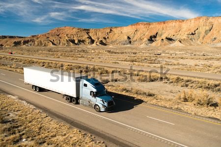 OTR Vehicle Transportation 18 Wheeler Big Rig White Semi Truck Stock photo © cboswell