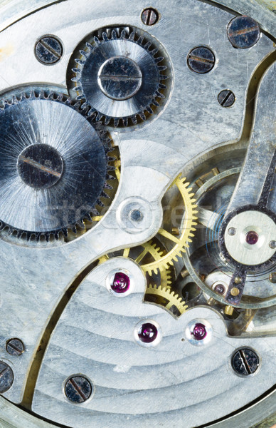 Vintage Watch Pocketwatch Time Piece Movement Gears Cogs Stock photo © cboswell