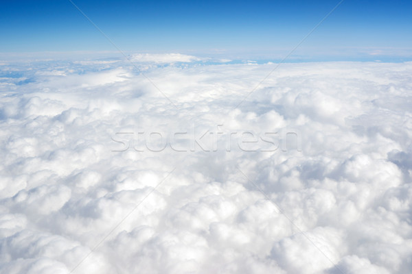 Cloud Cover Blue Sky Stratosphere Vertical Composition Clear Wea Stock photo © cboswell