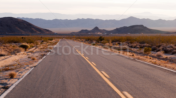 Kelbaker Road Approaches Needles Freeway US 40 California Desert Stock photo © cboswell