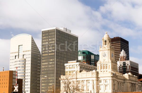 зданий архитектура центра ярко Солнечный Сток-фото © cboswell