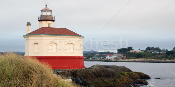 Coquille River Lighthouse Bandon Bay Oregon Pacific Ocean Inlet Stock photo © cboswell