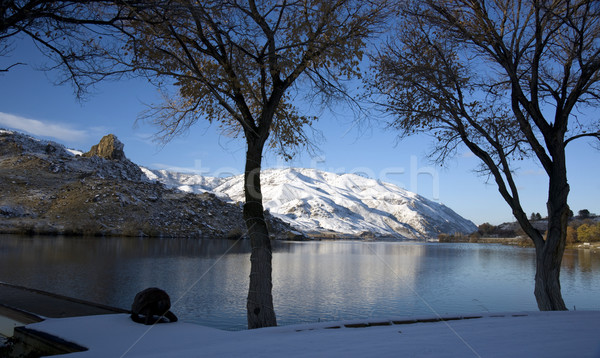 Winter Snow on the Peaceful Columbia River Stock photo © cboswell