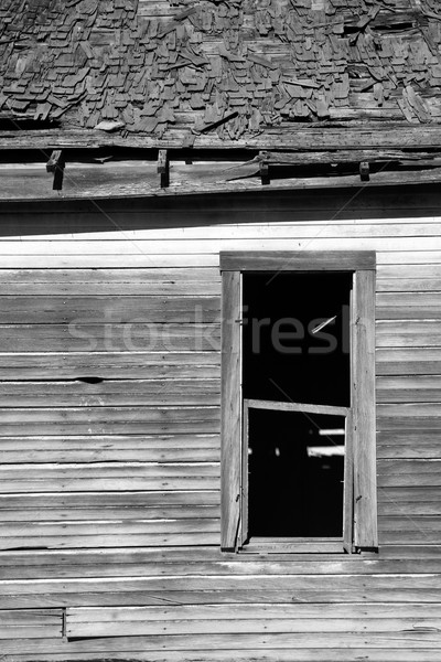 Run Down Abandoned Farm House Bleached Rotting Wood Stock photo © cboswell