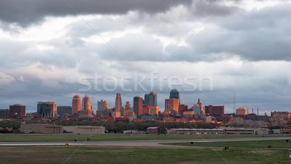 Kansas City Missourri Clay County Downtown City Skyline Sunrise Stock photo © cboswell