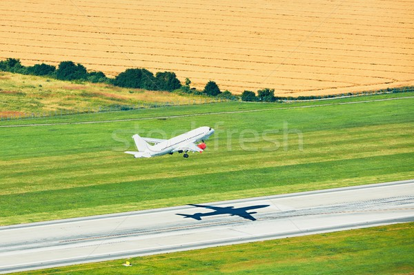 Aerial view of the airport Stock photo © Chalabala