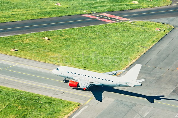 Aerial view of the airplane Stock photo © Chalabala