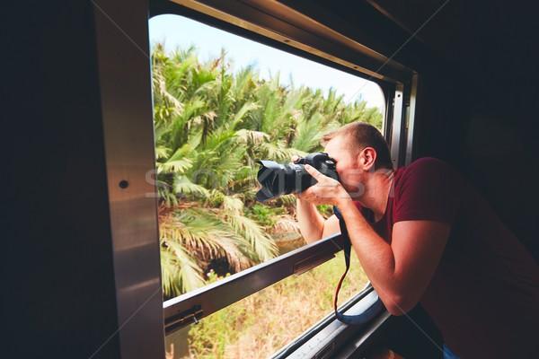 человека исторический поезд молодые путешественник Сток-фото © Chalabala