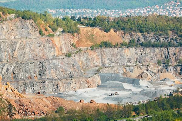 поверхность мои пейзаж каменные горно чешский Сток-фото © Chalabala