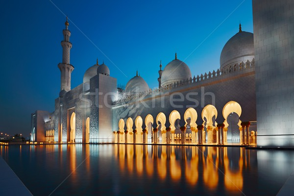 Mosque in Abu Dhabi Stock photo © Chalabala