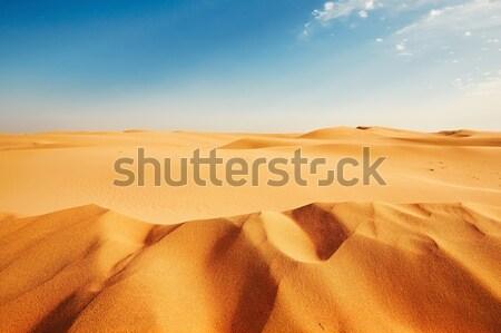 Kumul kum çöl gökyüzü Stok fotoğraf © Chalabala