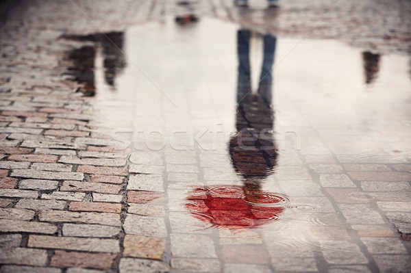 Stock photo: Man in rainy day