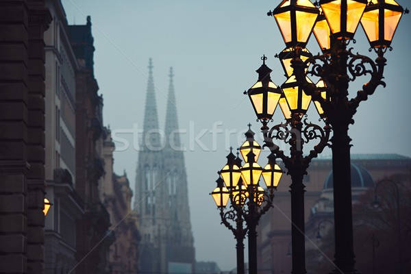 Gloomy autumn evening Stock photo © Chalabala